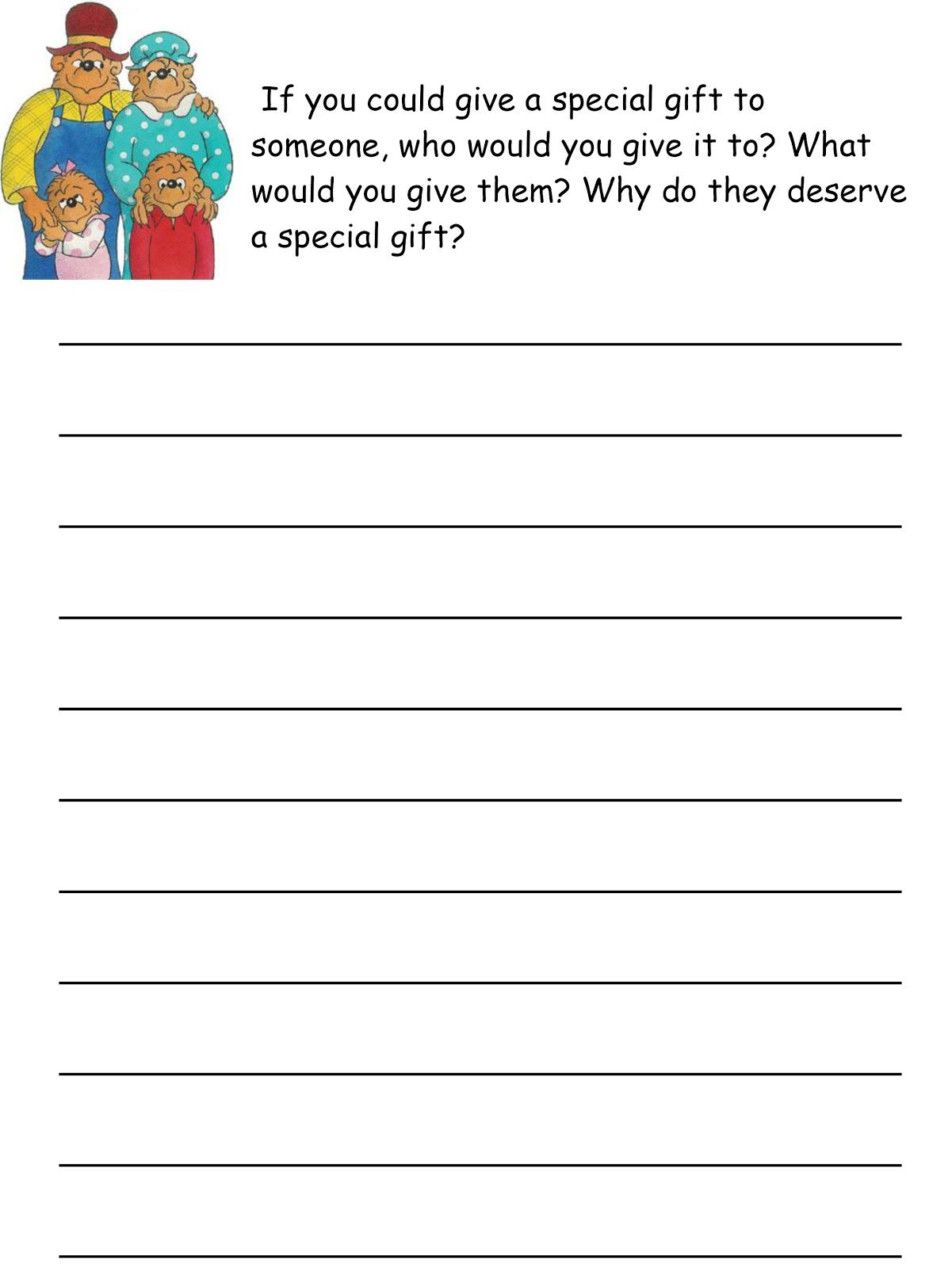 Berenstain Bears Christmas Activity