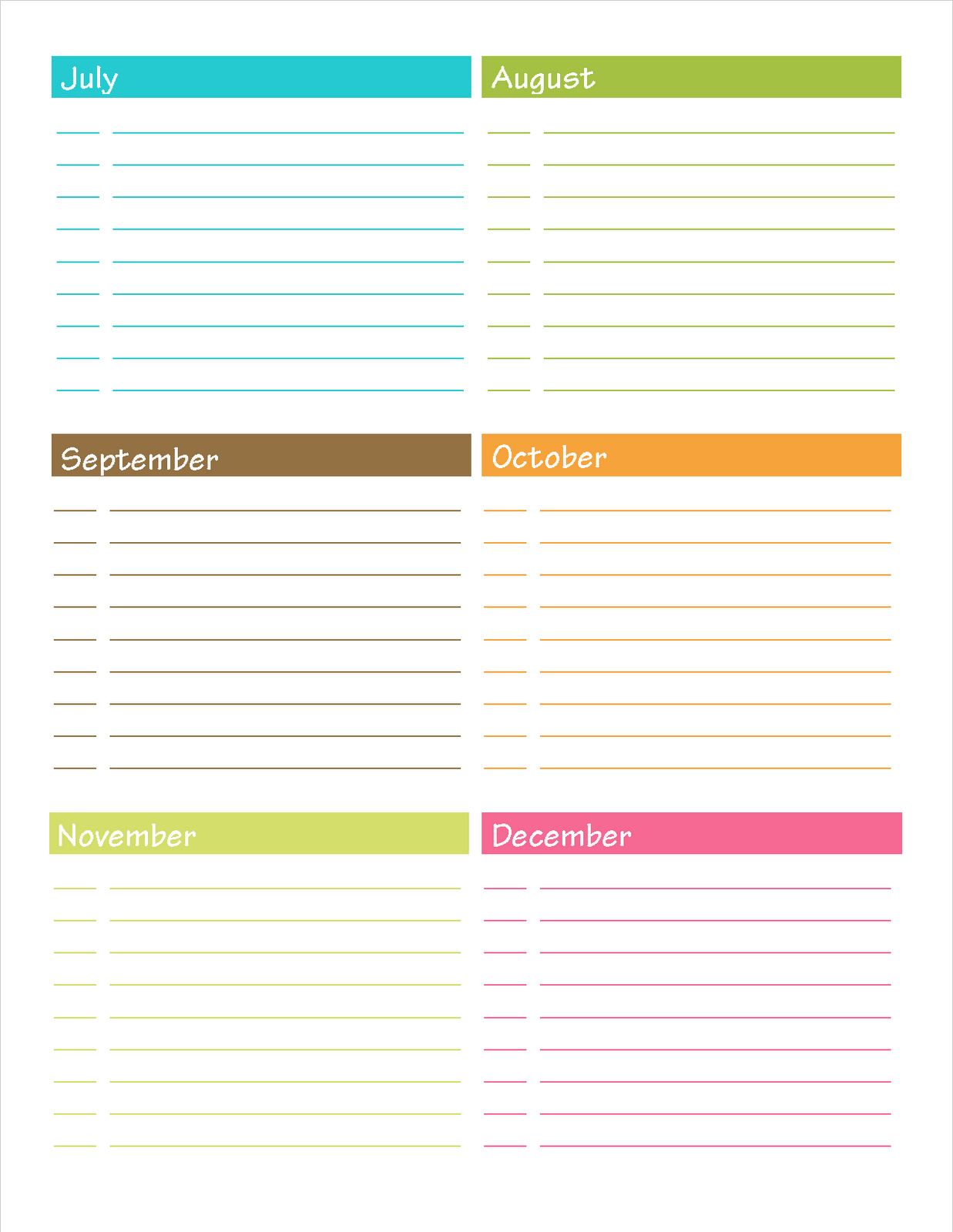 Free Printable Important Date To Remember
