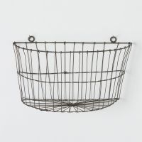 Half Moon Wire Wall Basket