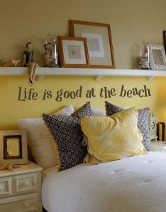 Life is good at the beach wall words vinyl home decor lettering graphic also rh pinterest