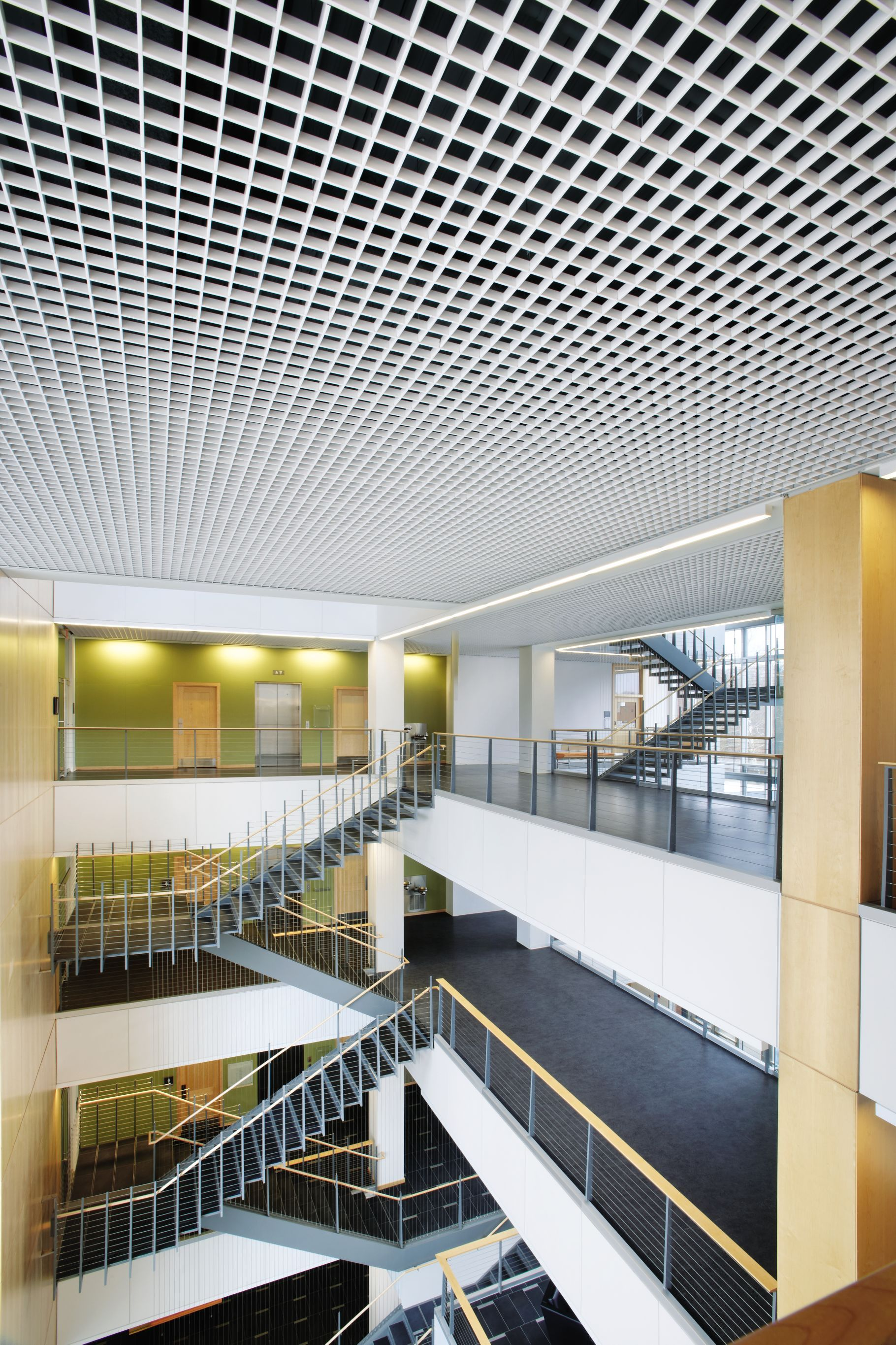 Commercial Ceilings Metal Metalworks Open Cell Cellio