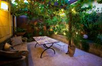 Exterior Courtyard Renovation Mediterranean Garden Design ...