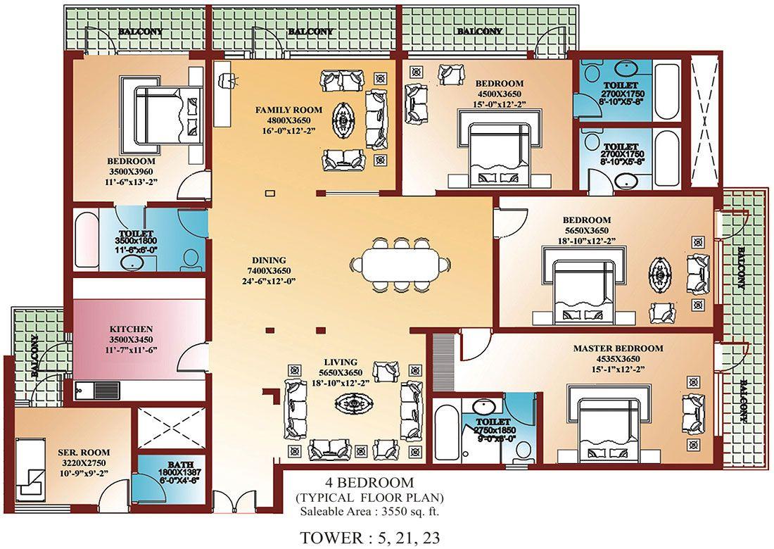 4 Bedroom Floor Plans House Plans Pinterest House Plans
