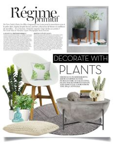 Decorate with planters by ittie kittie liked on polyvore featuring interior also rh za pinterest
