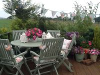 My painstakingly painted garden furniture. Cuprinol ...