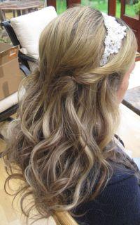half up half down wedding hairstyle with headband photo ...