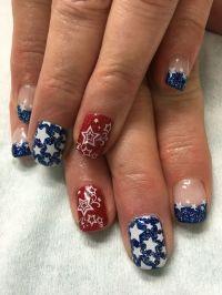 Memorial Day, Patriotic it 4th of July stamped gel nails ...