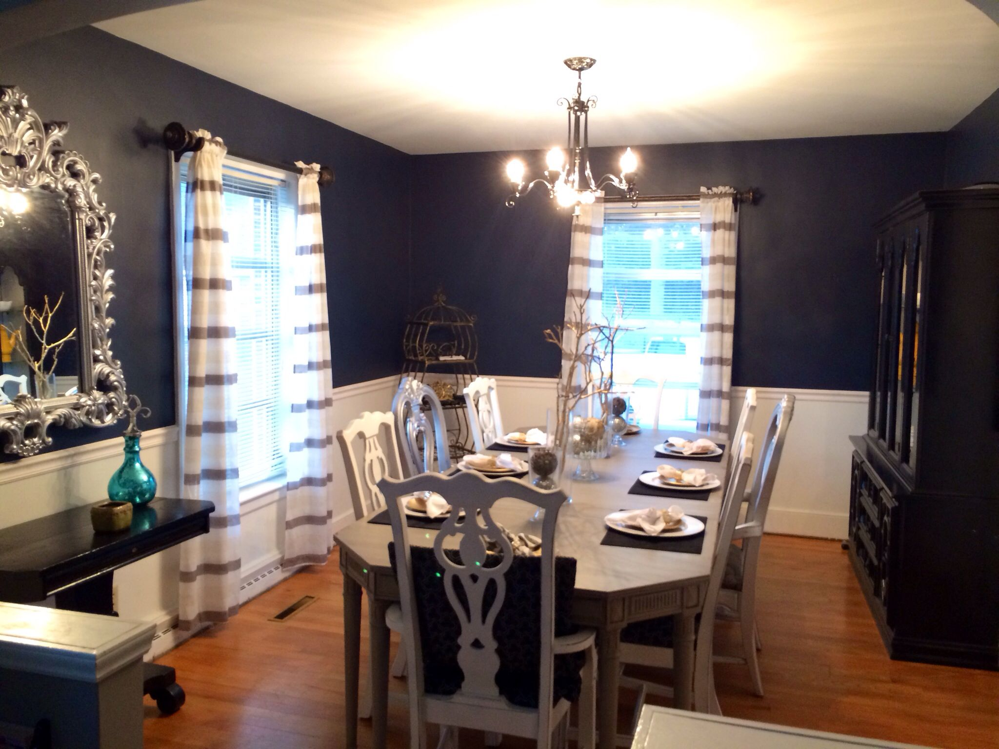 Navy Dining Room Paint