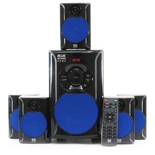 Blue octave   piece watt system includes powered subwoofer and satellite speakers all the necessary cables instructions needed for simple also supersonic channel dvd home theater with usb input rh pinterest