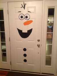 Frozen birthday party, Olaf front door decoration | Diy ...