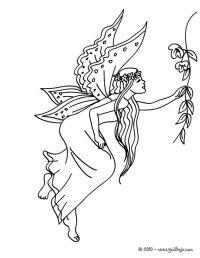 Dibujos para colorear HADAS, Alas de Hada para imprimir