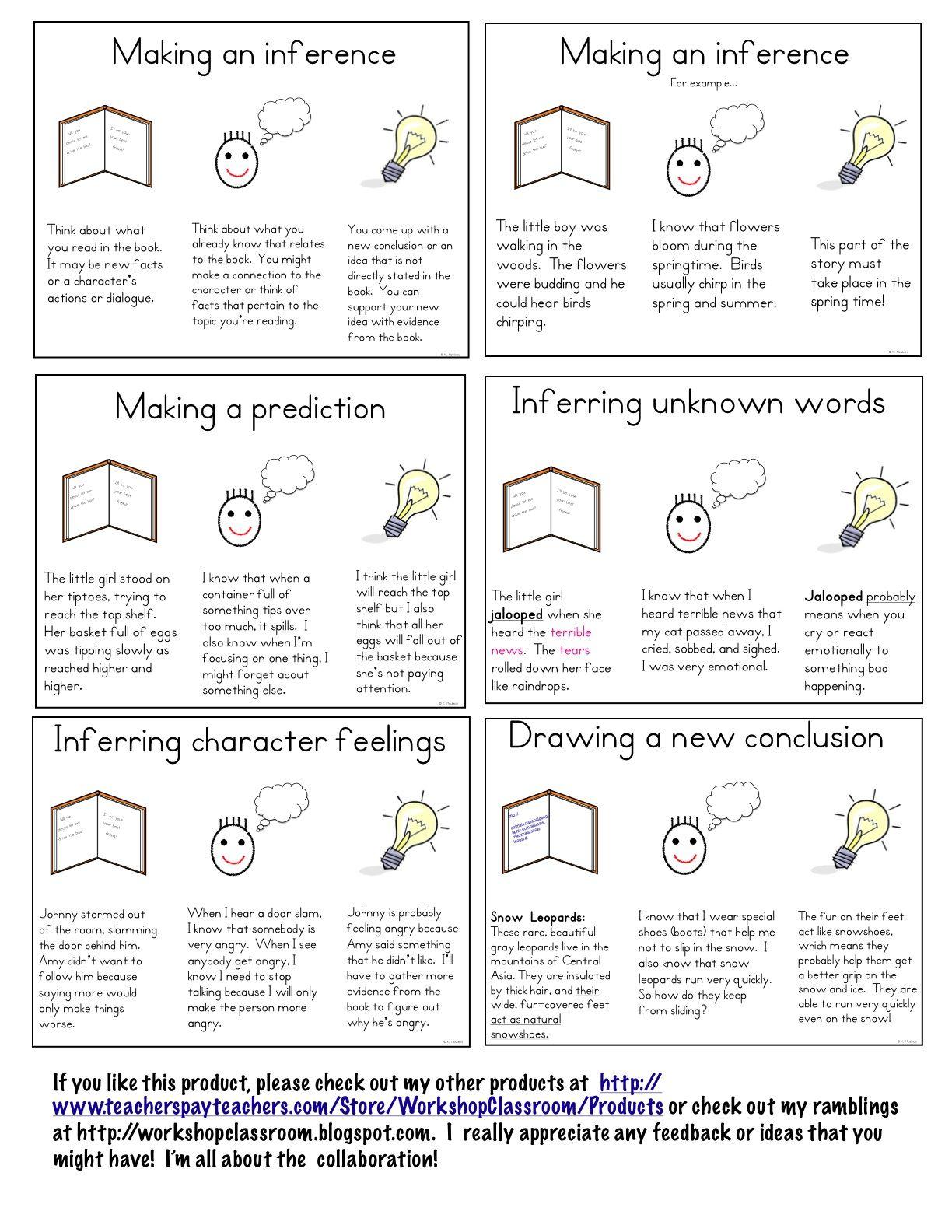 Workshop Classroom Making Inferences