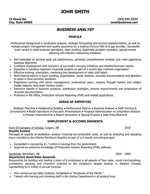 Click Here To Download This Business Analyst Resume Template!
