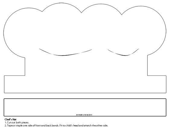 Chef Hat Paper Craft Template #4 #lesson Plans