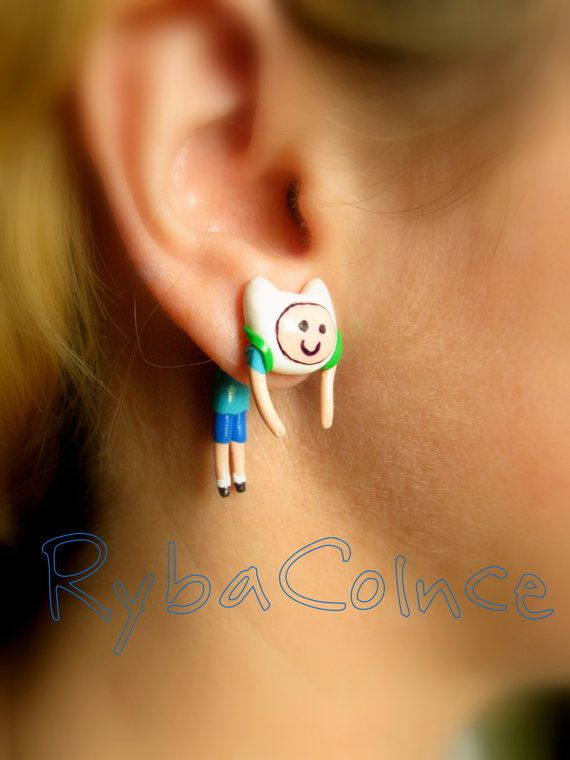 Fake ear gauge ADVENTURE TIME! Faux gauge/Gauge earrings