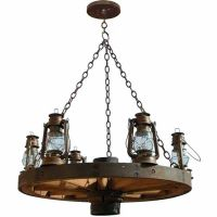 Wagon Wheel Chandelier - Old Western America 1800's ...