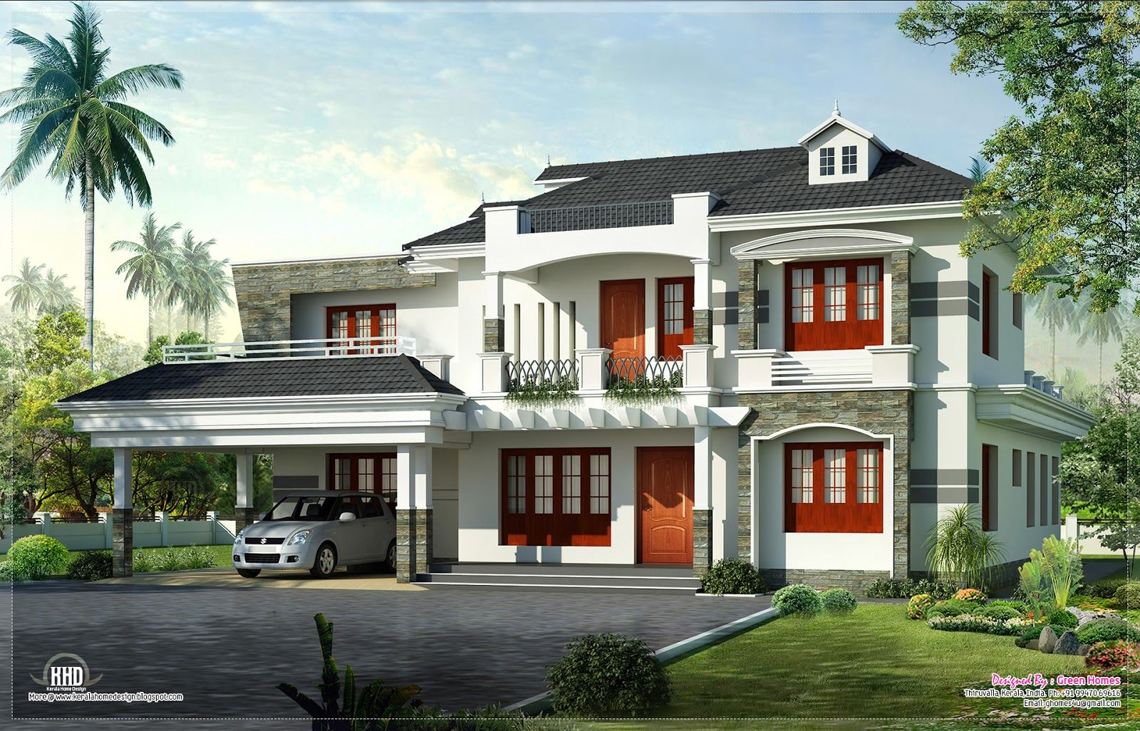 Amazing Designs For New Homes New Kerala Home On Home Design