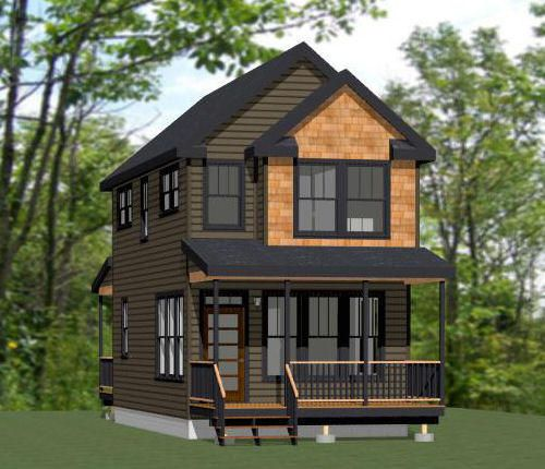 Two Story Tiny House Plan