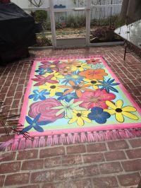 Painted rug on concrete patio   Decor ideas   Pinterest ...