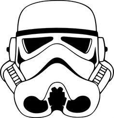 Star Wars Stormtrooper casque vinyle autocollant. Un