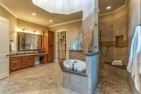 master bath floor plan with walk through shower
