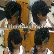 curly mohawk weave styles