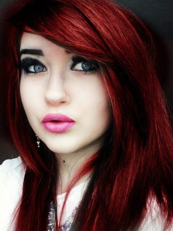 Long Hair Styles 4 Fantastic Red And Black Dyed Hairstyles Red