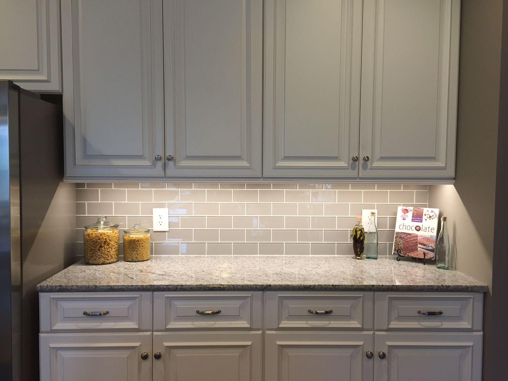 glass subway tile kitchen backsplash sink with side drain board smoke