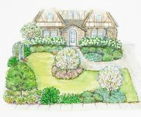 A Small Front Yard | Landscape plans, Small front yards ...