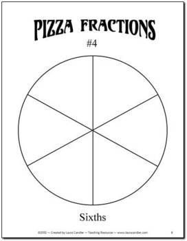 FREE Pizza Fraction Fun including fraction circle