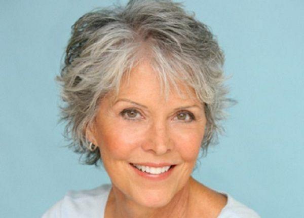 Short Haircuts For Women With Gray Hair Like Thin Sleek Bob Can