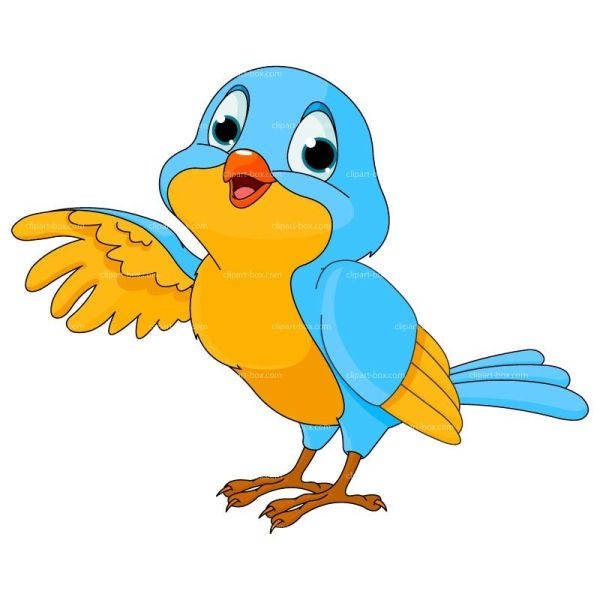 Bird Clipart Cartoon Royalty Free Vector