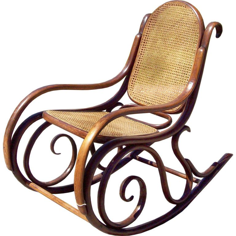 Antique Thonet Rocking Chair  Rockers Rocking chairs and