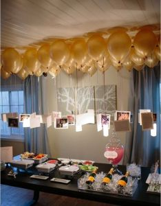 Photo balloons such  cute idea for an anniversary party or milestone bday also rh pinterest