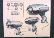 hair dryer rendering hand sketch