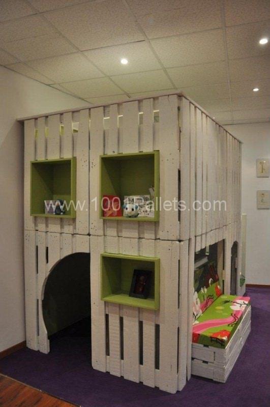 Pallet Kids House Project • Pallet Ideas Chambre Enfant Pour