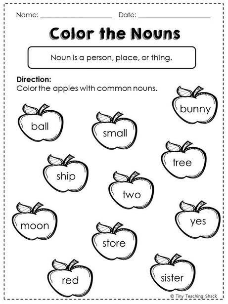 Nouns (common, proper, possessive) Common Core Practice