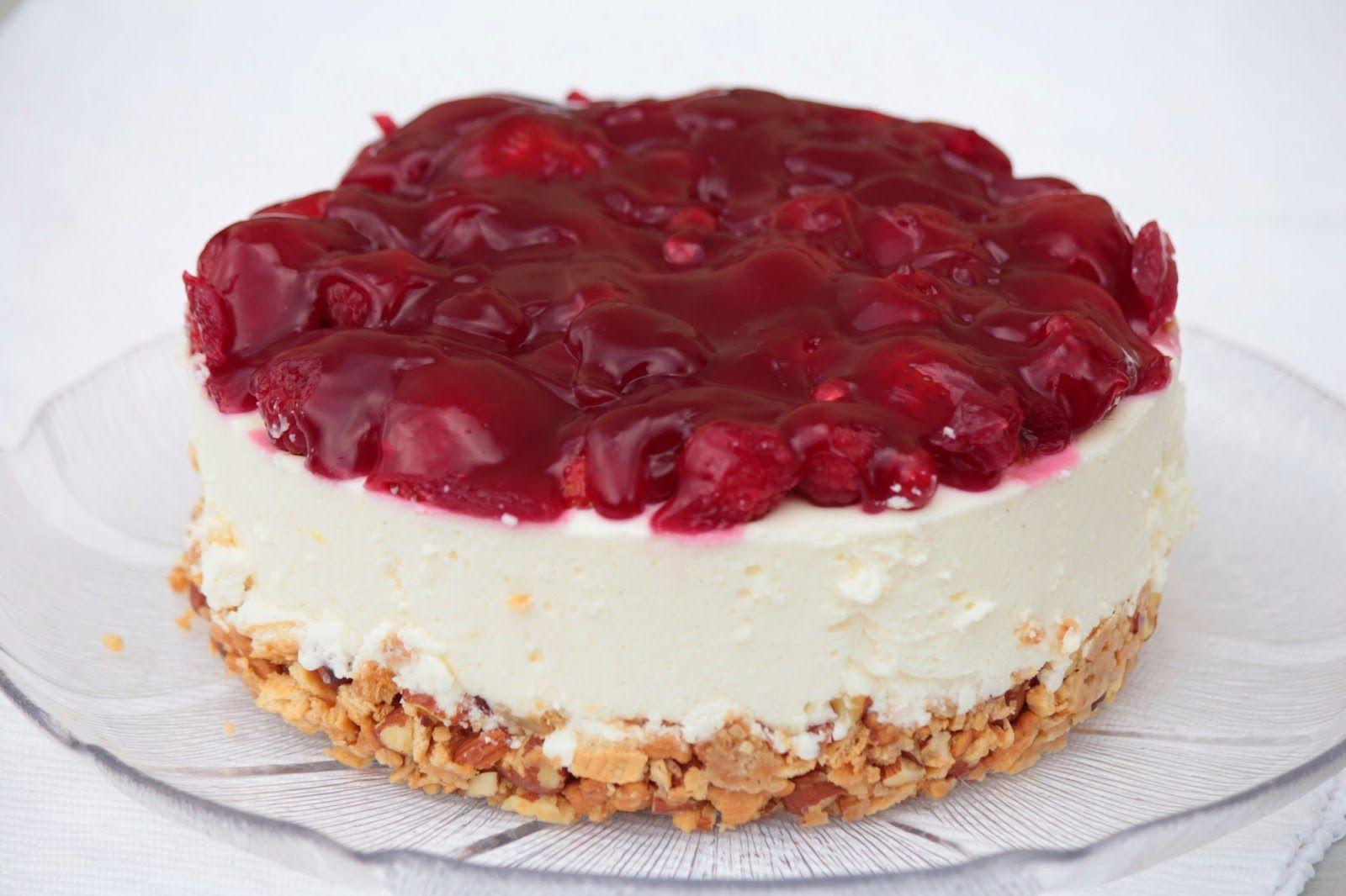 Kleine Kuchen  BeerenQuarkTorte ohne Backen  lecker