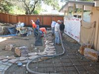 Cement Patio Cost Poured Concrete Wall Designs Resurfacing ...