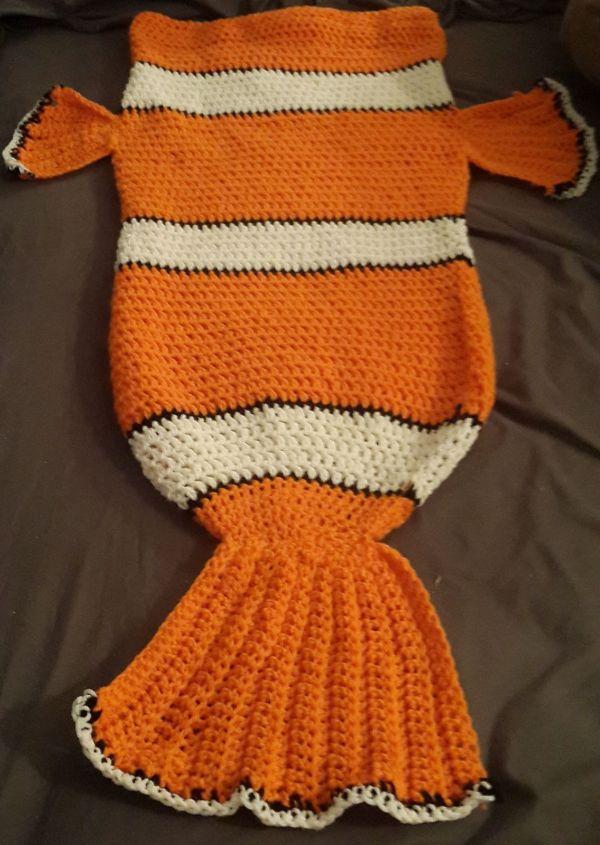 Ravelry Clownfish Nemo Cocoon Style Blanket Tina