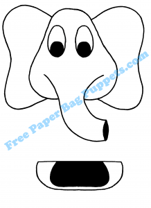 Elephant Free Paper bag puppet for you to print and your
