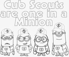 Cub Scout Minions PRINTABLE Coloring Page from Despicable