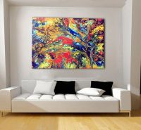 Colorful, Extra Large Canvas, Oversized Print, Bohemian ...