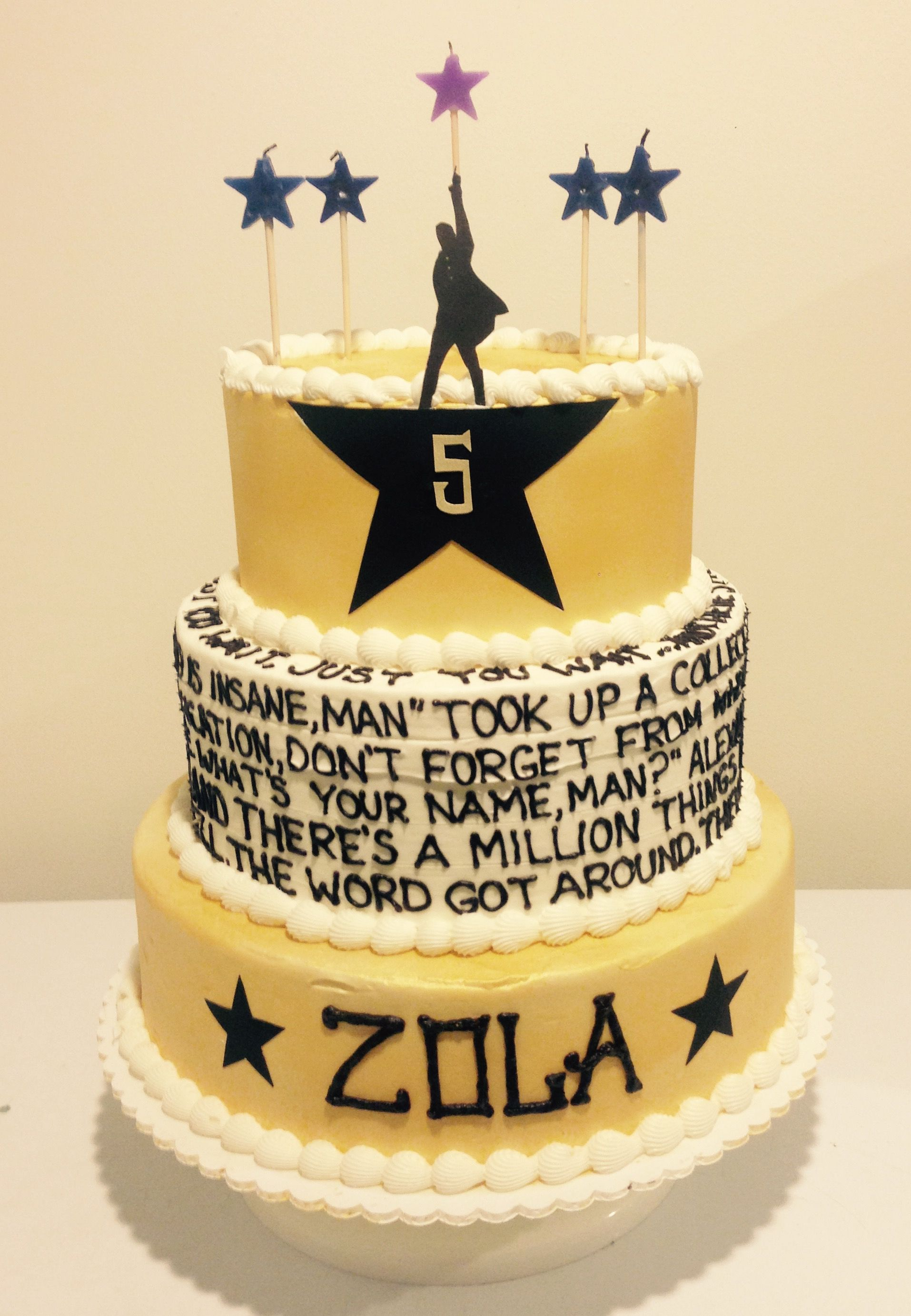 Hamilton The Musical Cake My Decorated Cakes Pinterest