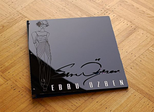 Custom Fashion Designer Portfolio Book With Engraving Cut