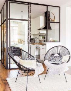 Une cuisine dans boite vitree planete deco  homes world modern interiorsdesign also rh pinterest