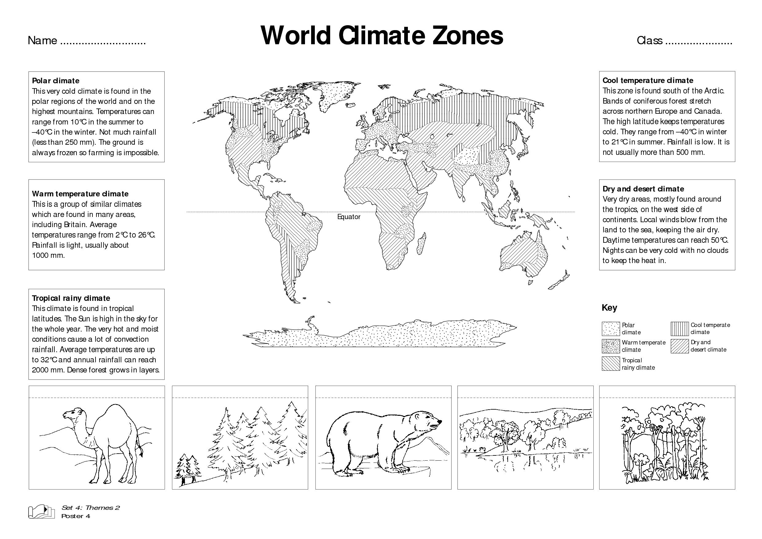 Worksheet On Climate
