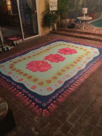 Painted rug on concrete patio | Decor ideas | Pinterest ...