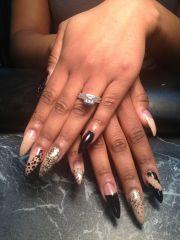 long stiletto nails withdesign