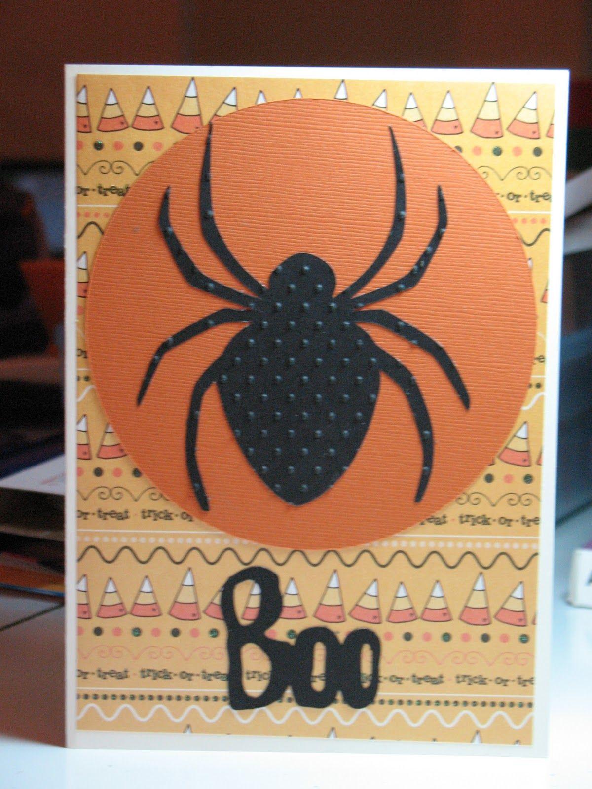 Debbies Creations: Spider Halloween Card